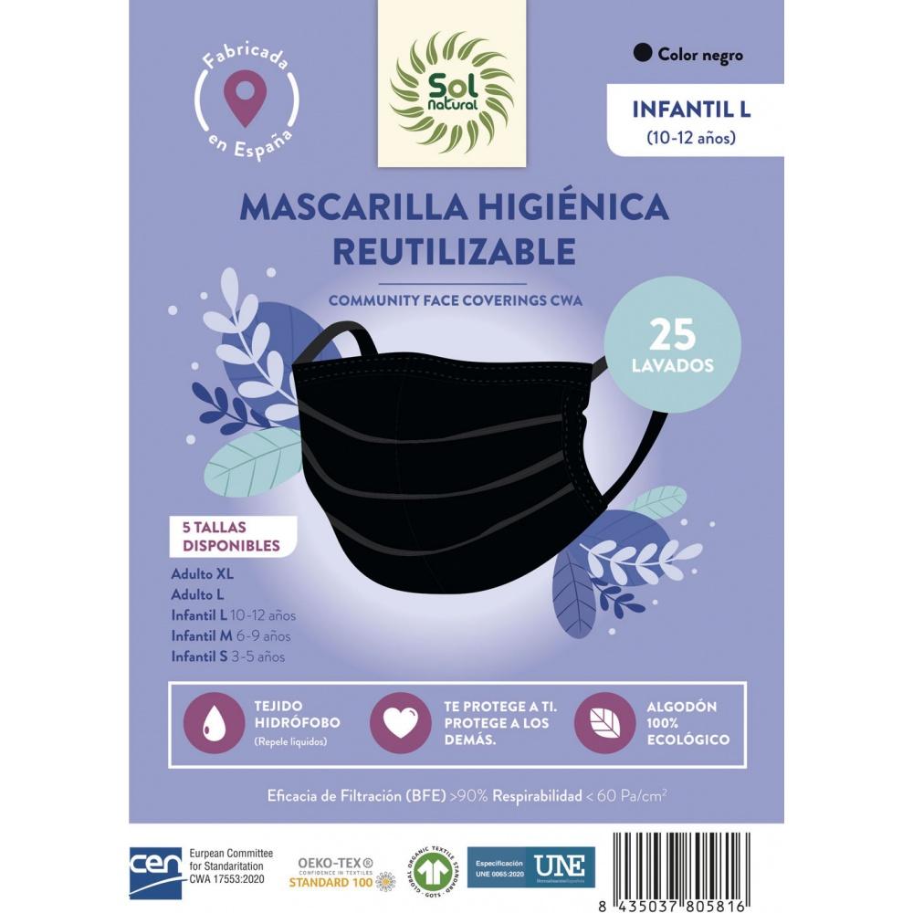 SOLNATURAL MASCARILLA ALGODON NIÑO L