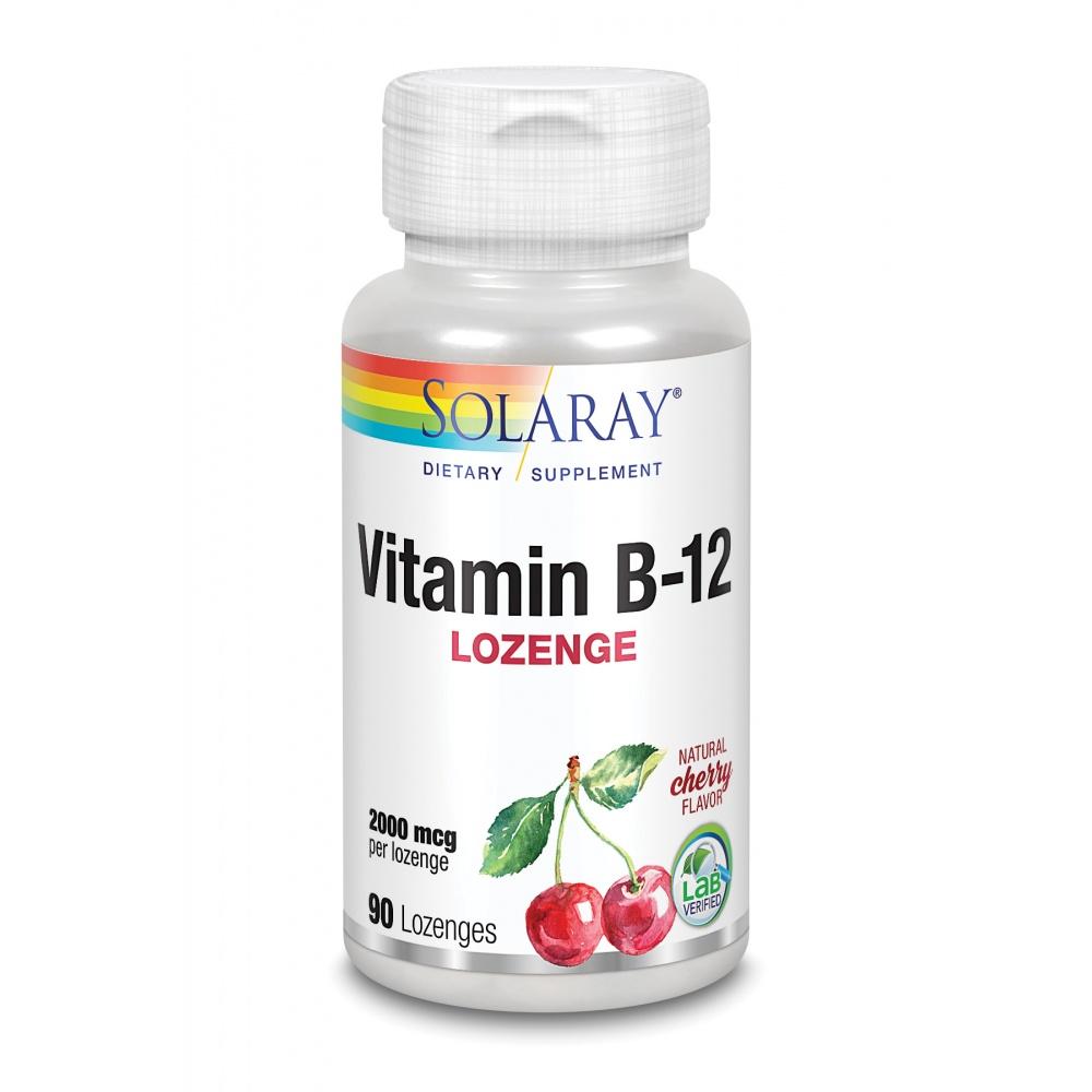SOLARAY VITAMINA B12 2000MCG SUBLINGUAL