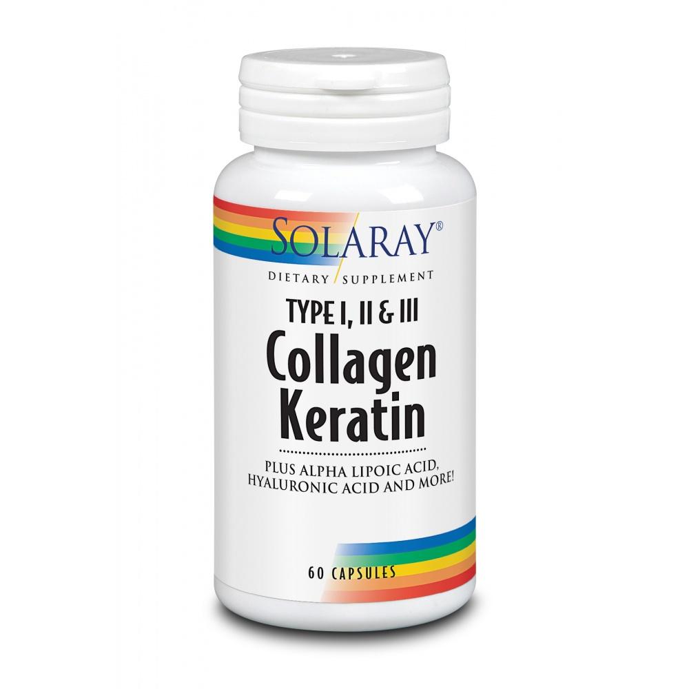 SOLARAY COLLAGEN KERATIN 60 CAP.