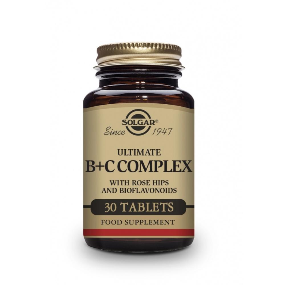 SOLGAR ULTIMATE B+C COMPLEX 30 TABLETAS